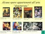 alcune opere appartenenti all arte degenerata
