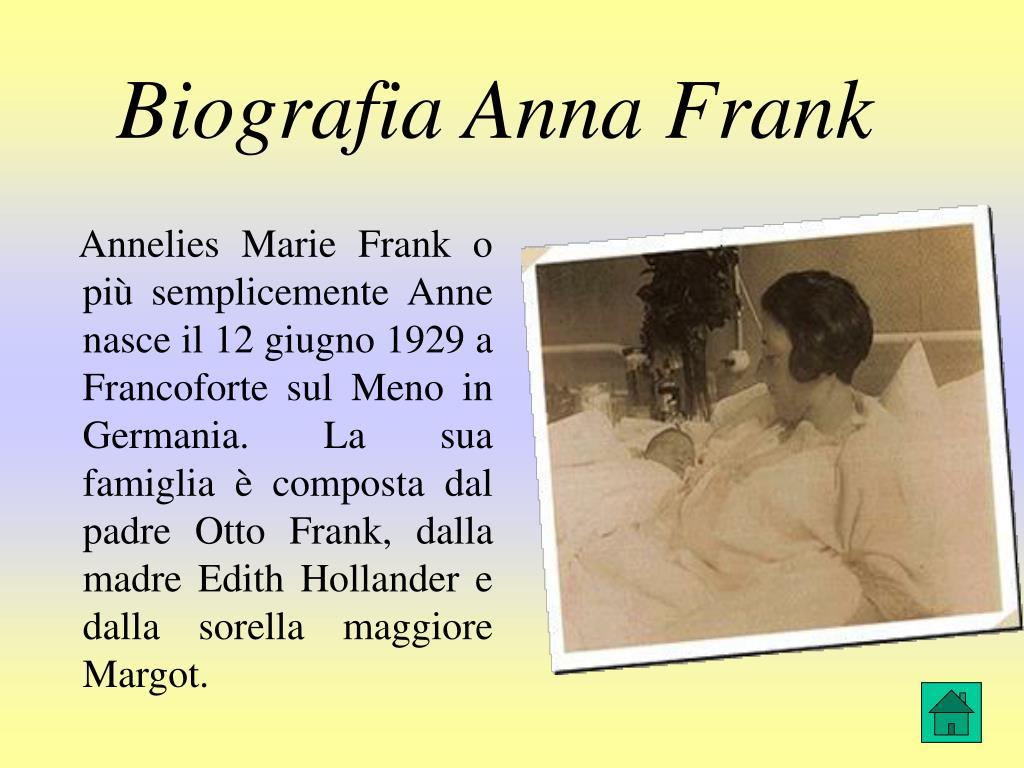 Biografia Anna Frank