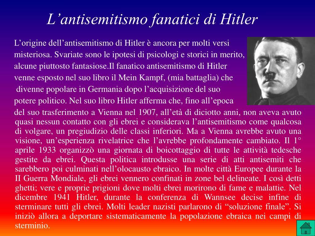 L'antisemitismo fanatici di Hitler