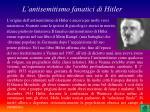 l antisemitismo fanatici di hitler