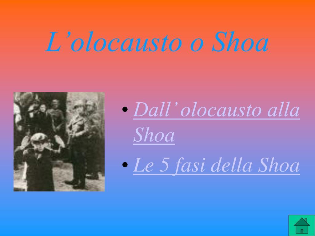 L'olocausto o Shoa