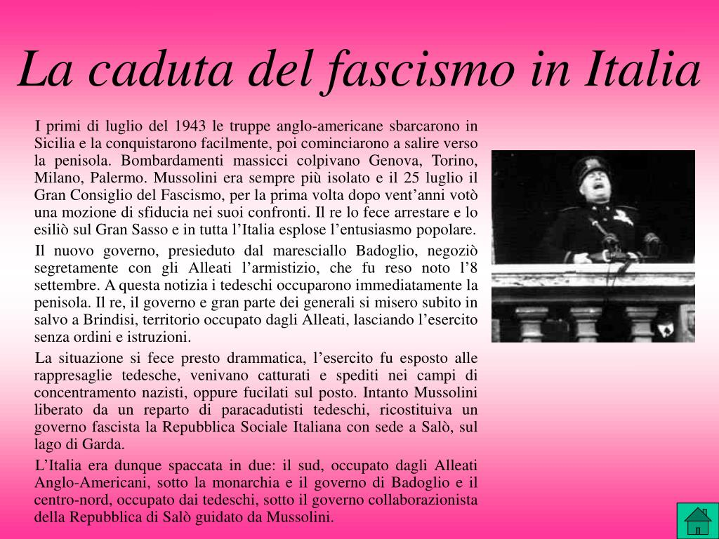 La caduta del fascismo in Italia