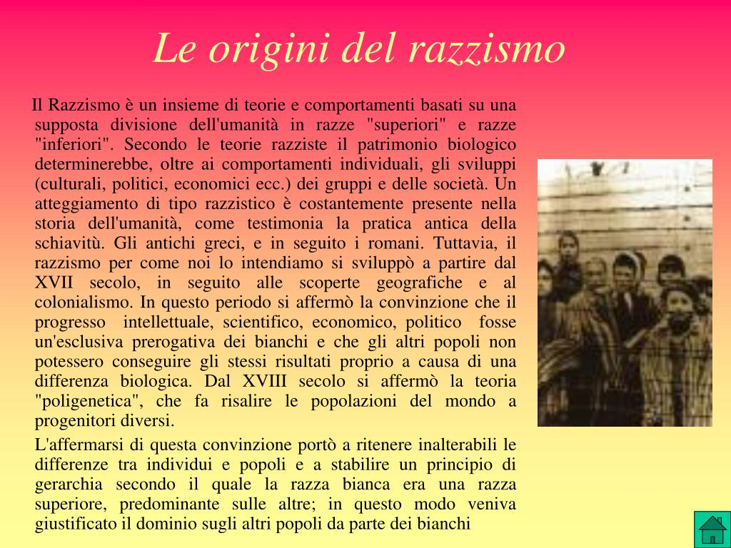 Le origini del razzismo