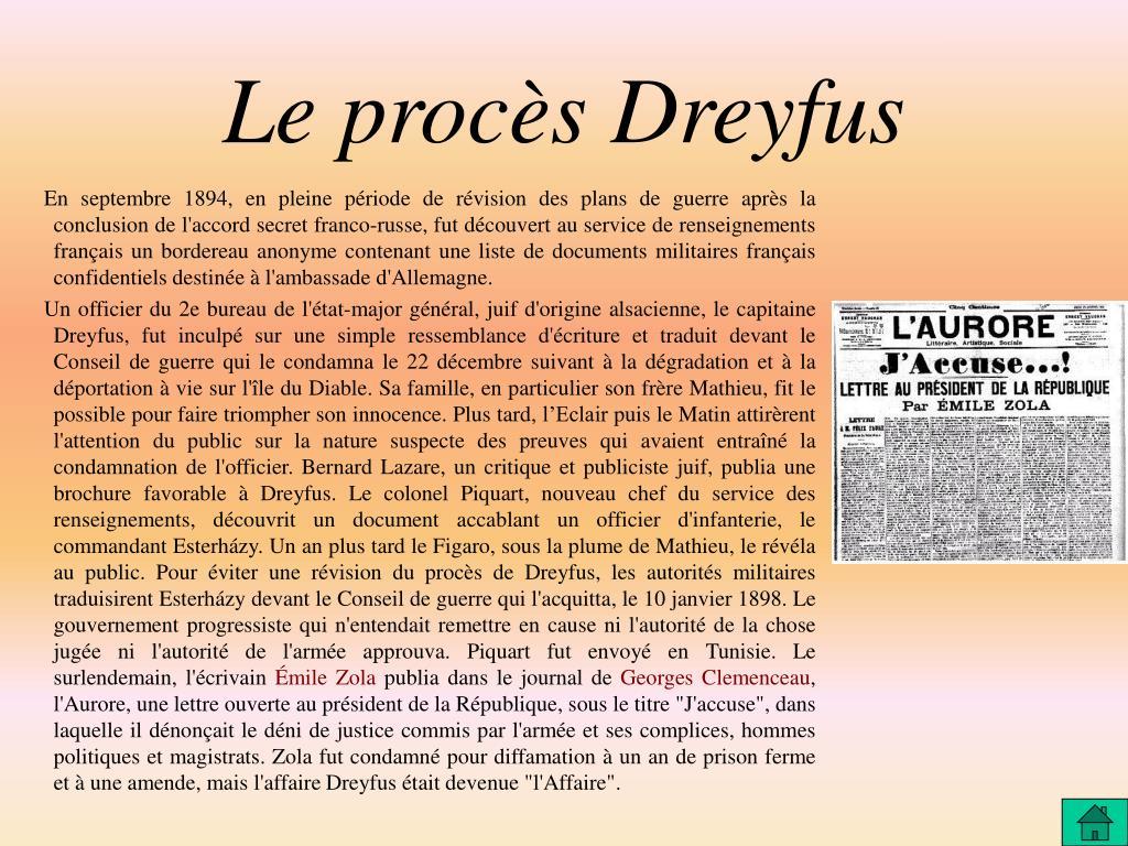 Le procès Dreyfus