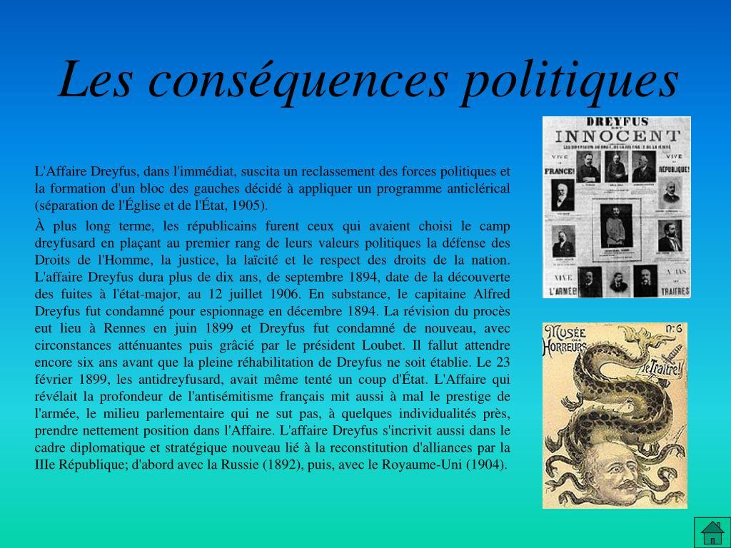 Les conséquences politiques