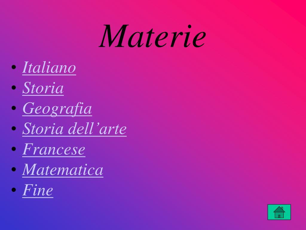 Materie