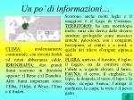 un po di informazioni
