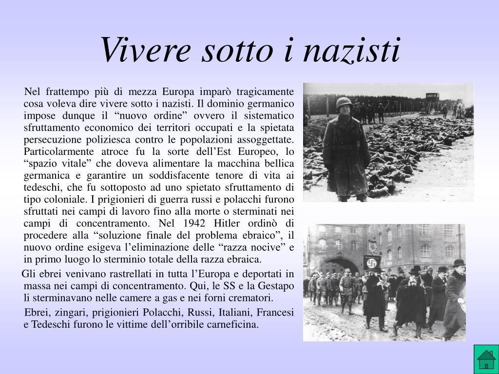 Vivere sotto i nazisti