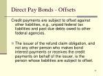 direct pay bonds offsets