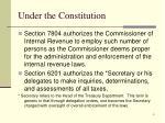 under the constitution1