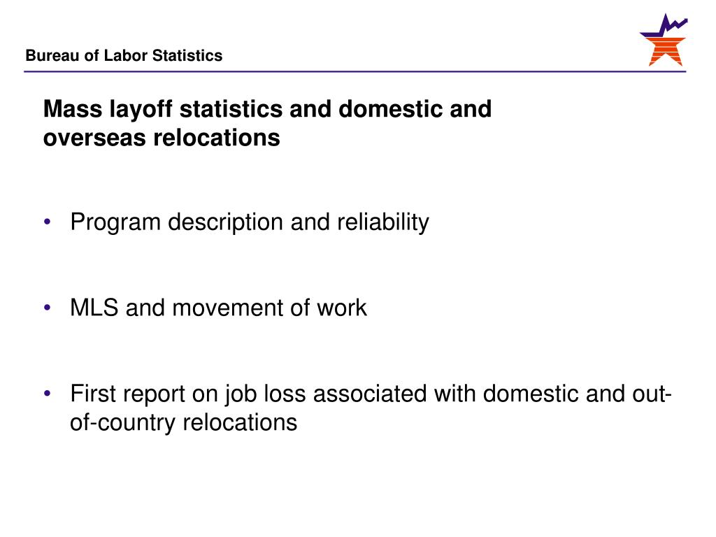 Mass layoff statistics and domestic and