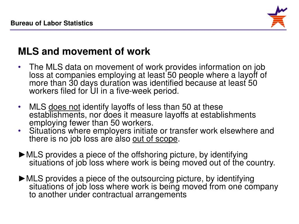 MLS and movement of work