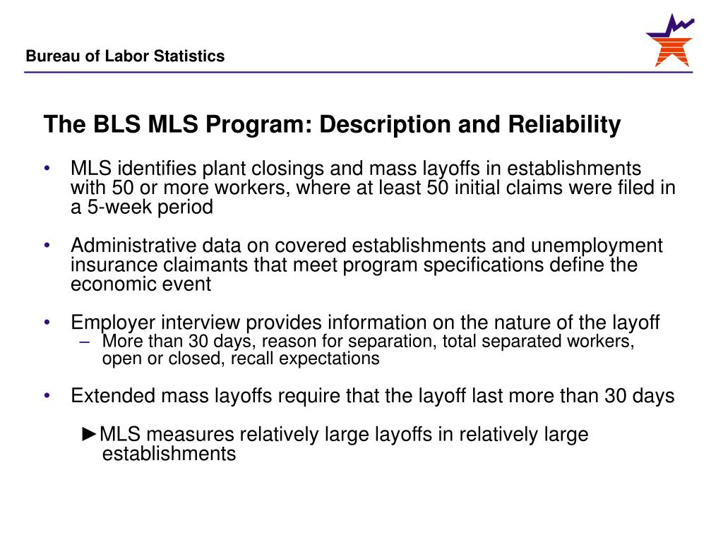 The BLS MLS Program: Description and Reliability