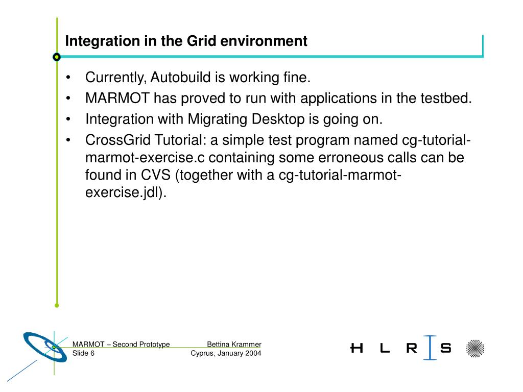 Integration in the Grid environment