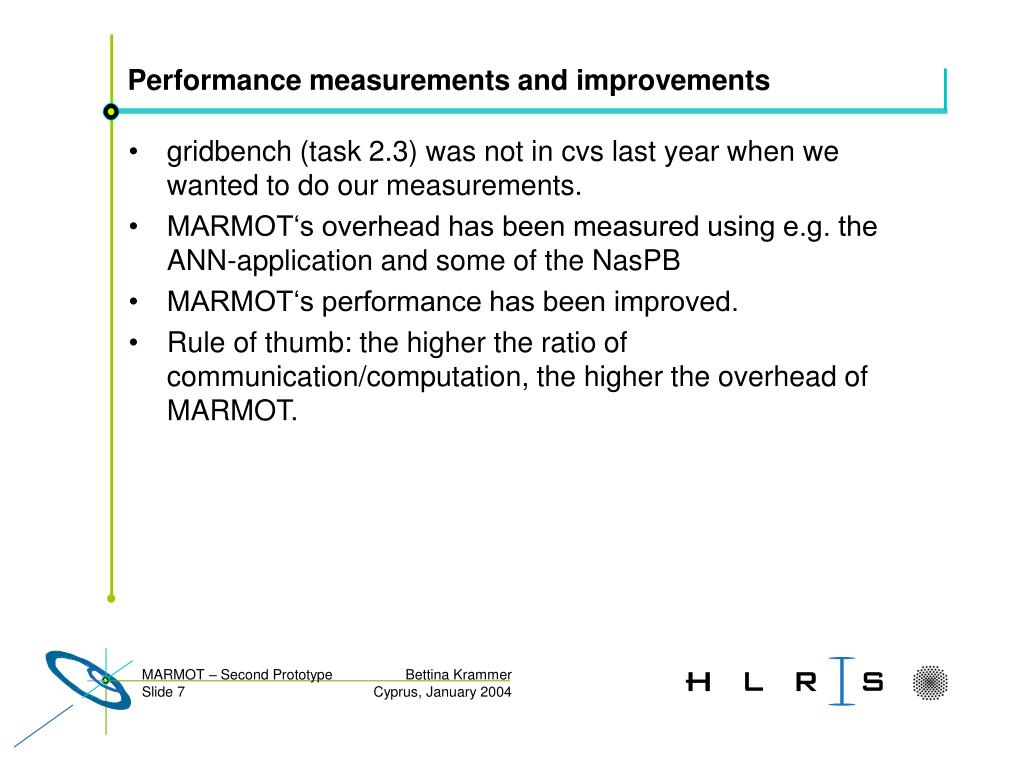 Performance measurements and improvements