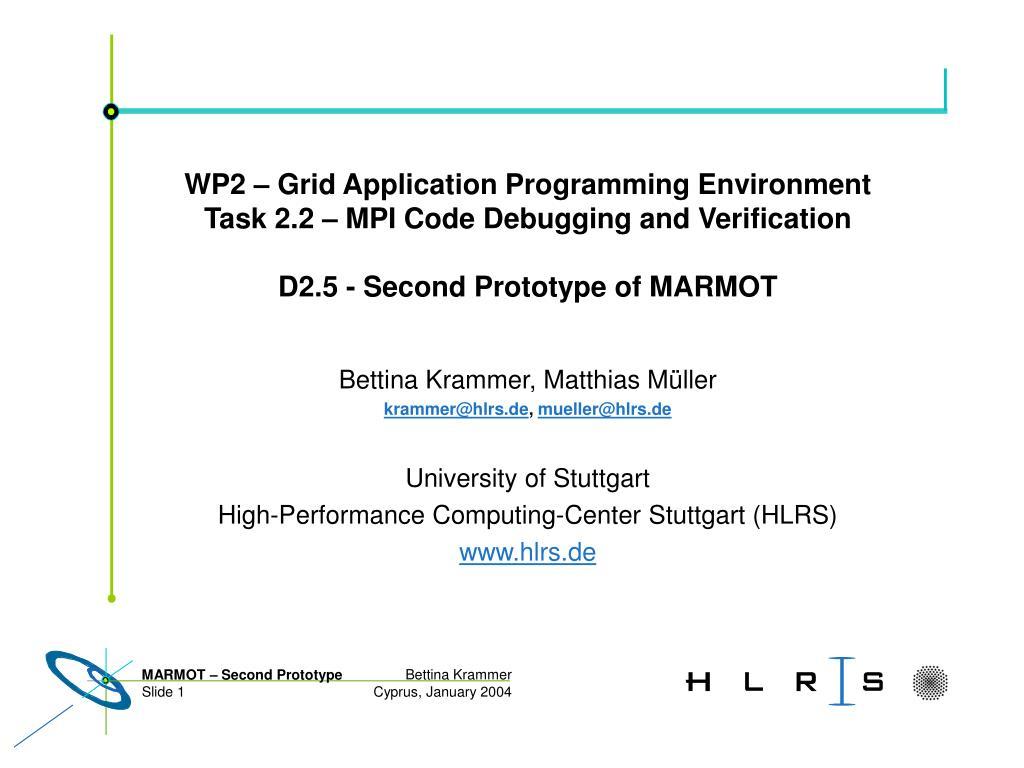 WP2 – Grid Application Programming Environment