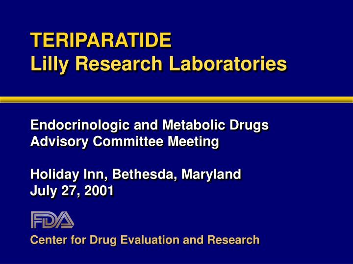 Teriparatide lilly research laboratories