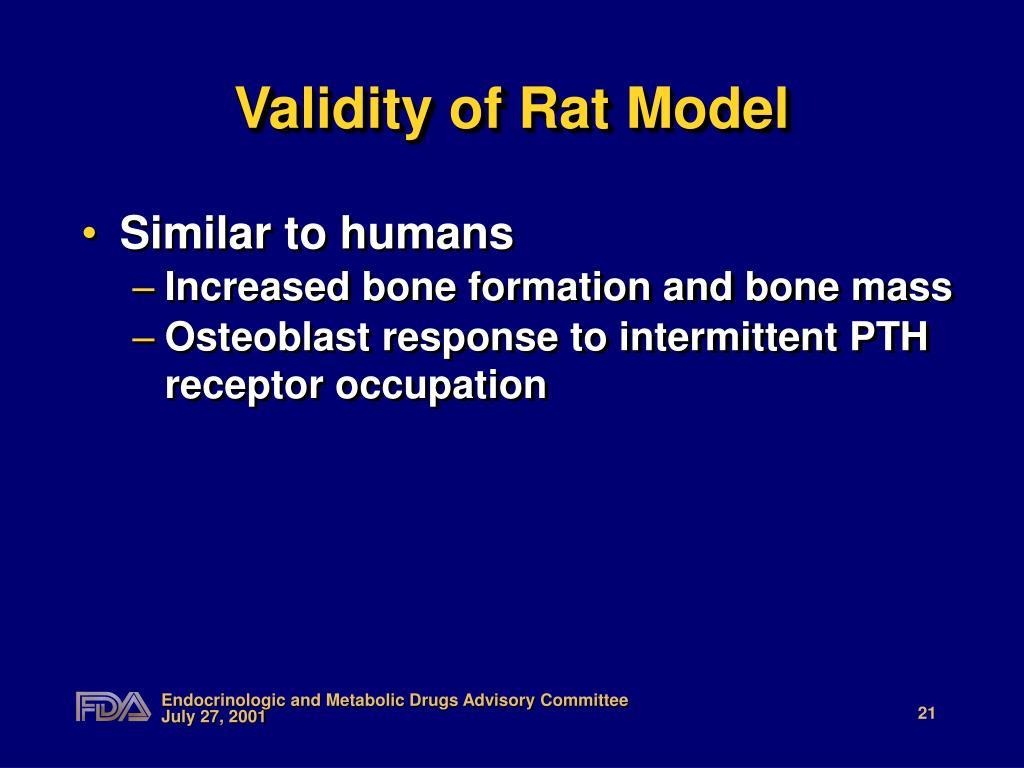 Validity of Rat Model