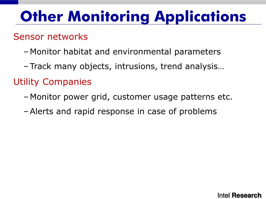 Other Monitoring Applications