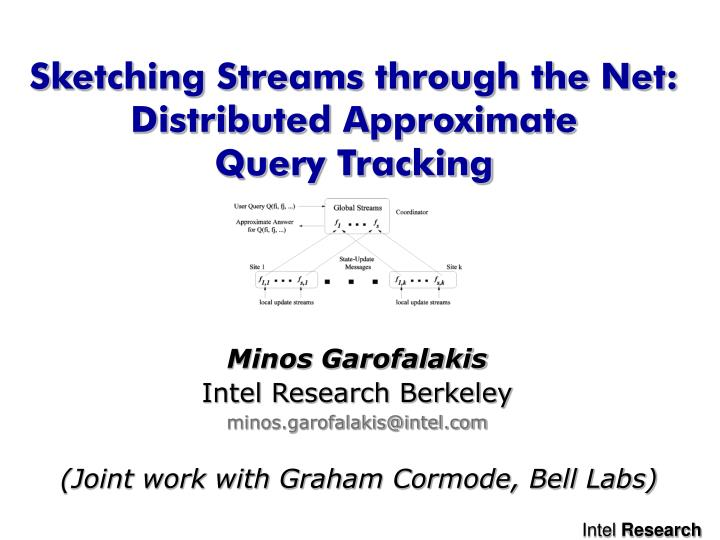 Sketching streams through the net distributed approximate query tracking