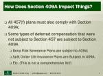 how does section 409a impact things9