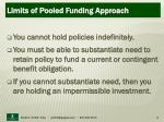 limits of pooled funding approach