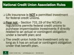 national credit union association rules
