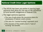 national credit union legal opinions