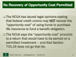 no recovery of opportunity cost permitted