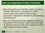 state laws regarding permitted investments