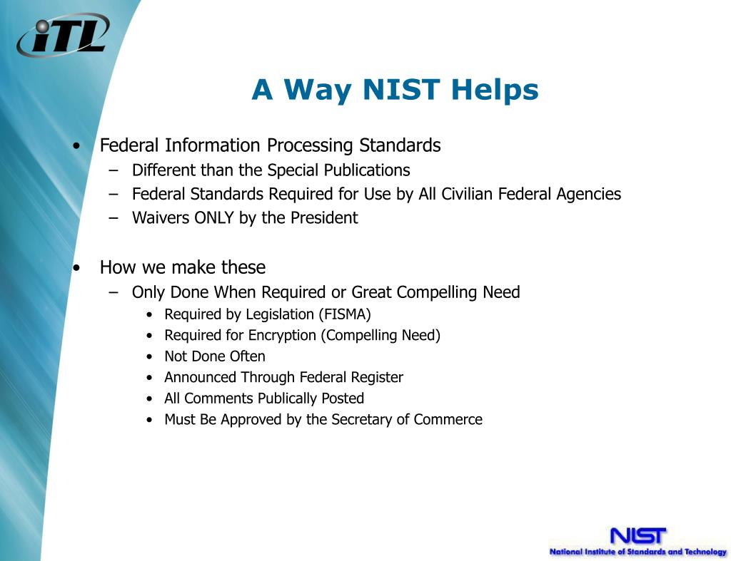A Way NIST Helps