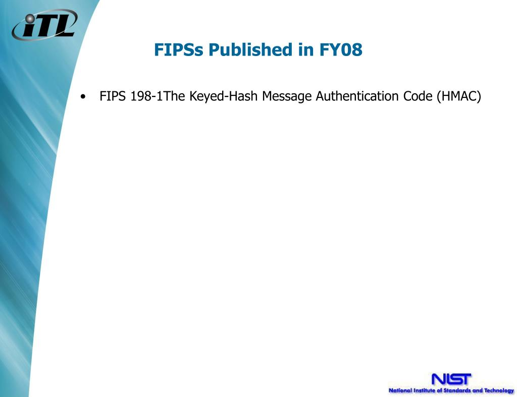 FIPSs Published in FY08