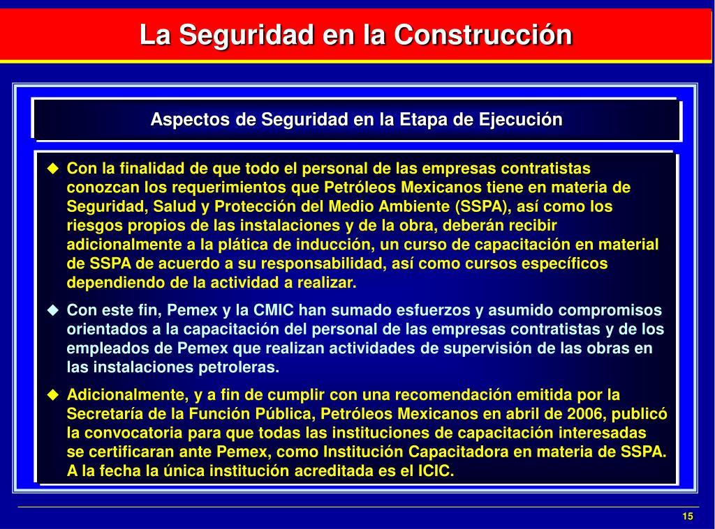 La Seguridad en la Construcción