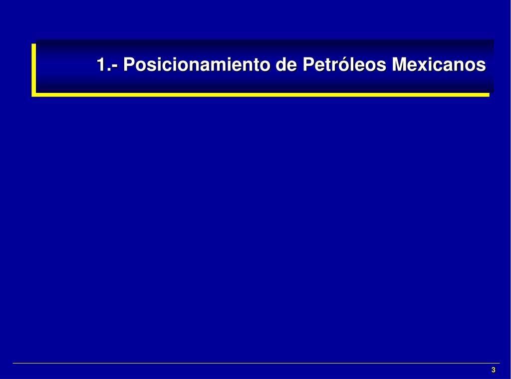 1.- Posicionamiento de Petróleos Mexicanos