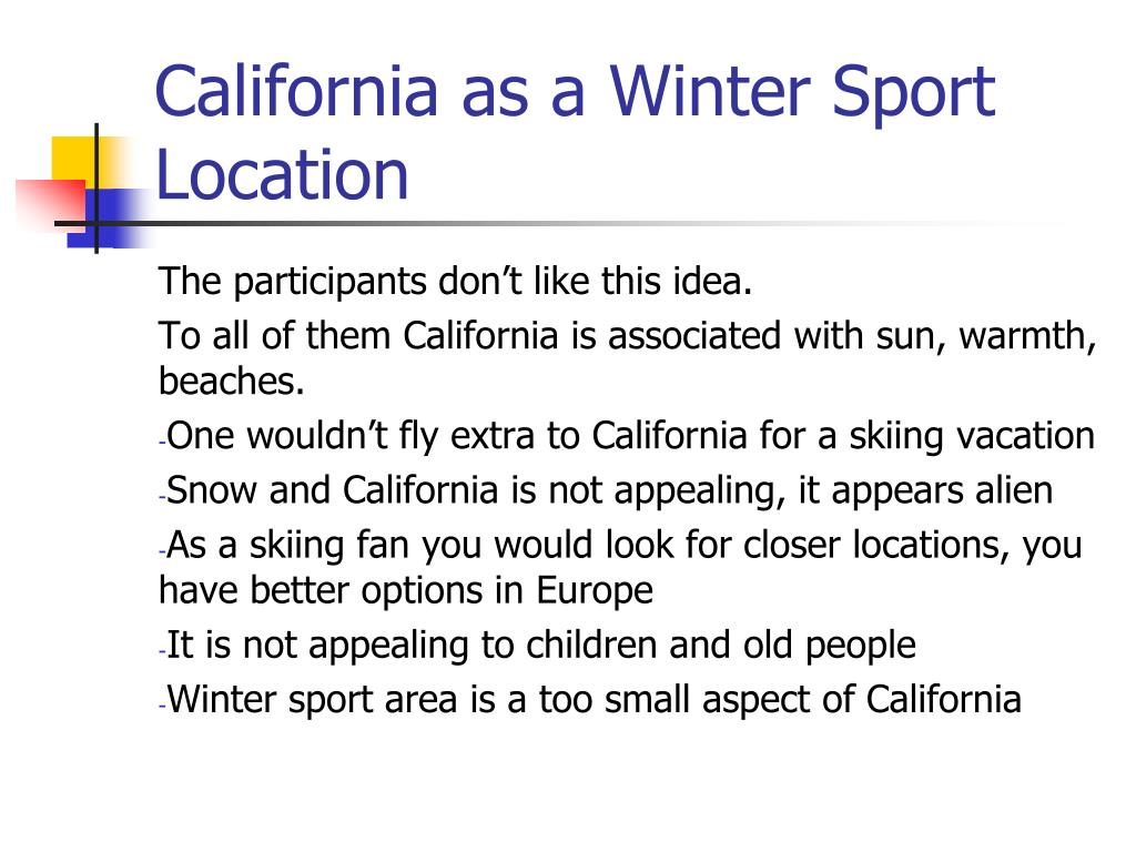 California as a Winter Sport Location
