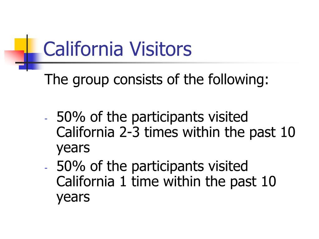 California Visitors