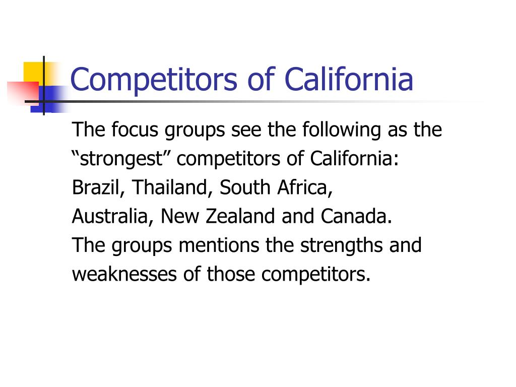 Competitors of California