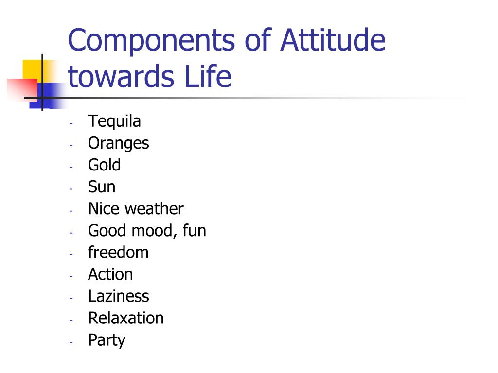 Components of Attitude towards Life