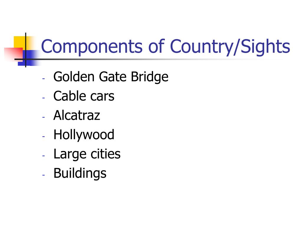 Components of Country/Sights