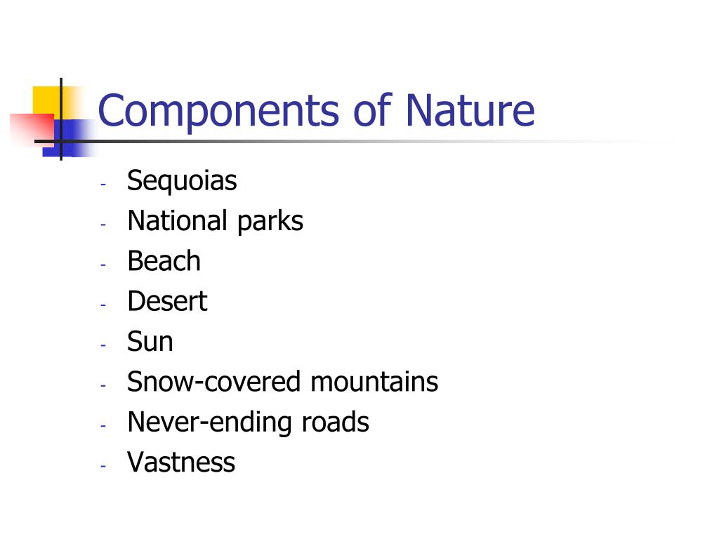 Components of Nature