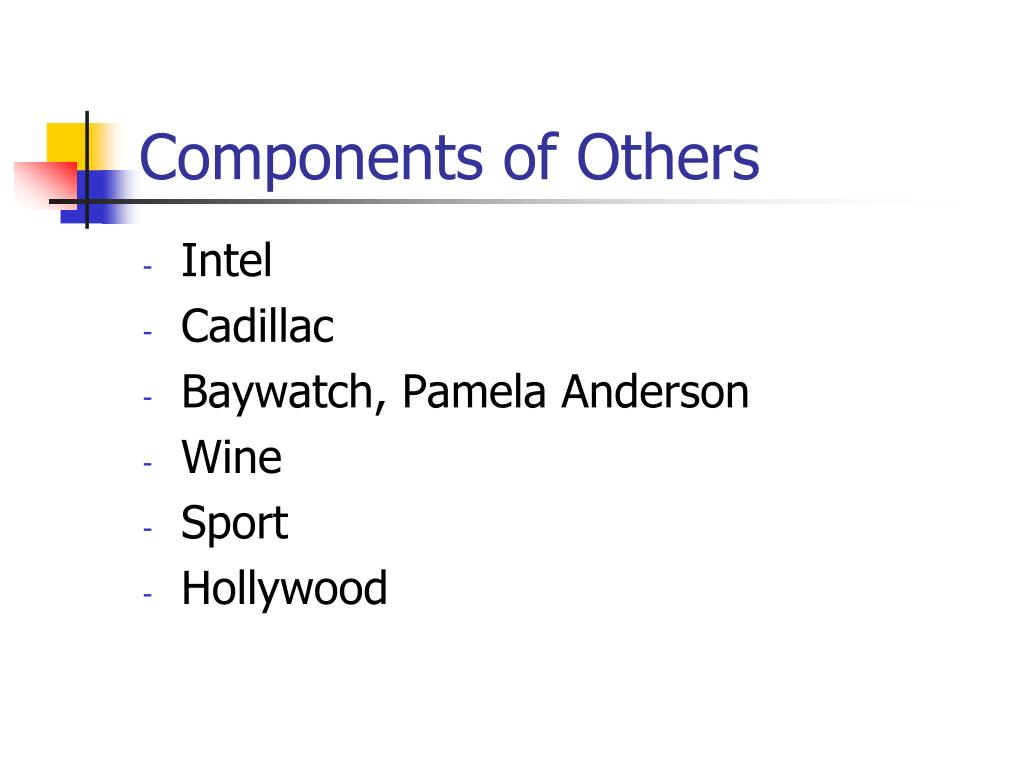 Components of Others