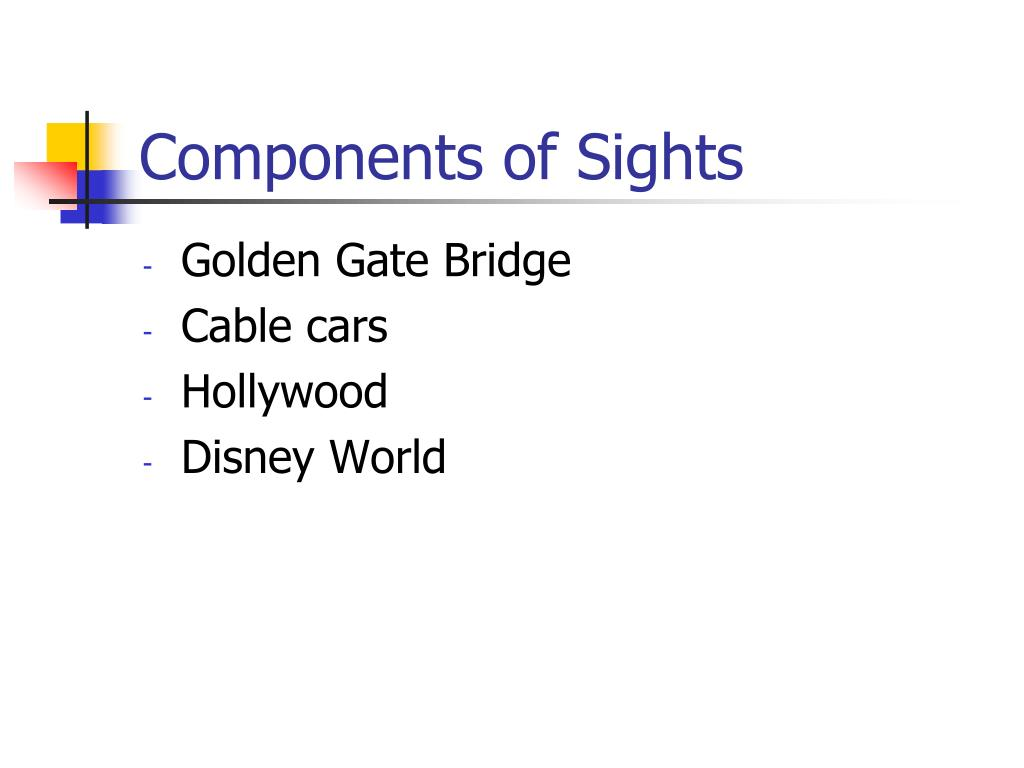 Components of Sights