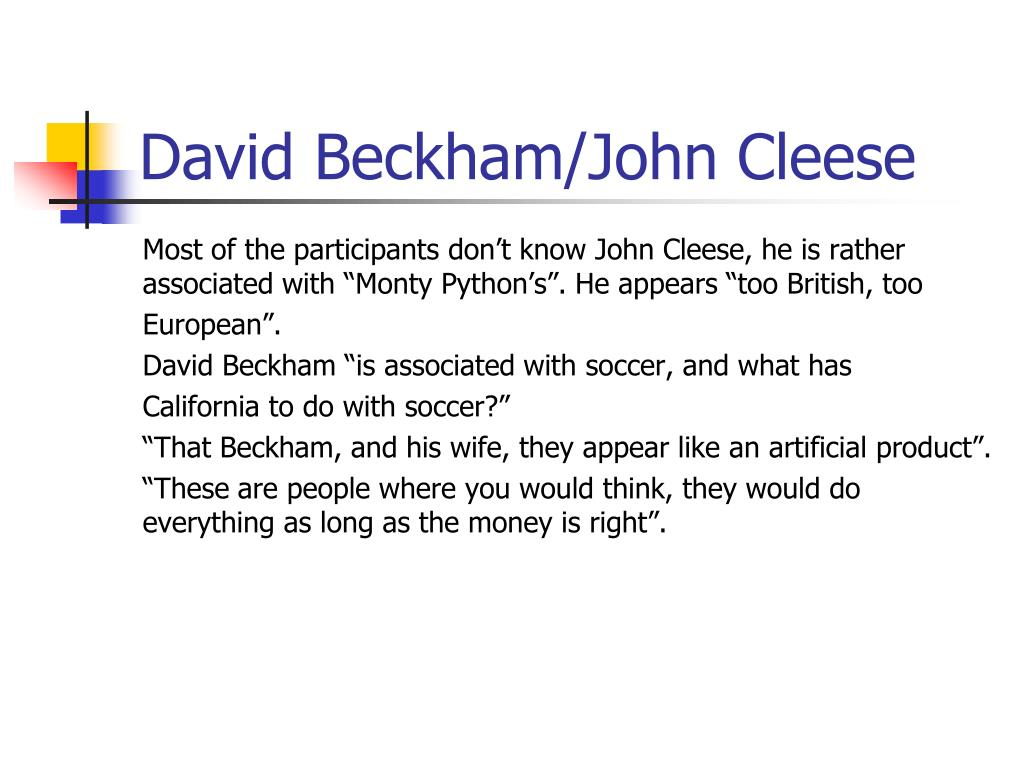David Beckham/John Cleese