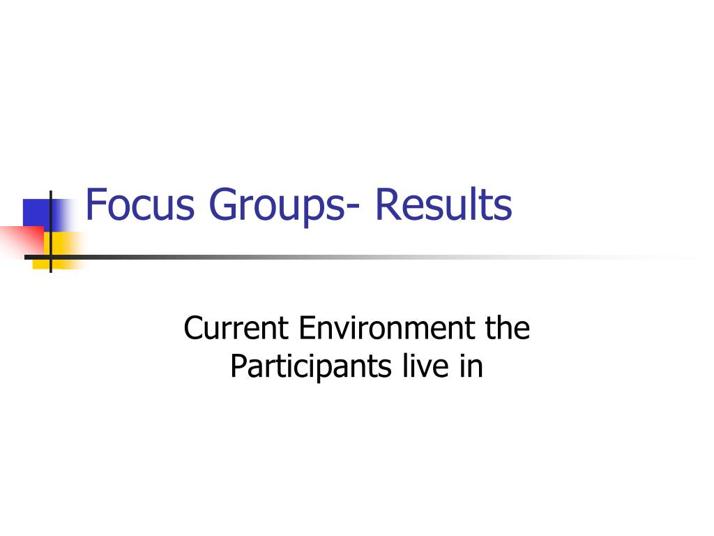 Focus Groups- Results