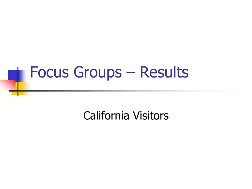 Focus Groups – Results