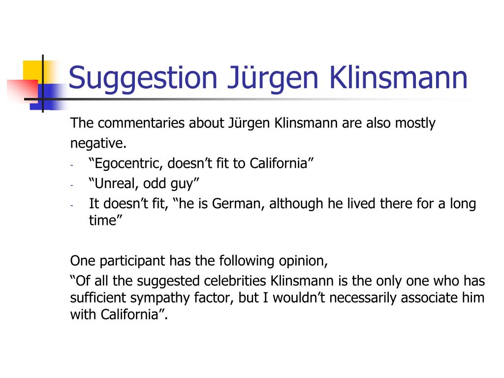 Suggestion Jürgen Klinsmann