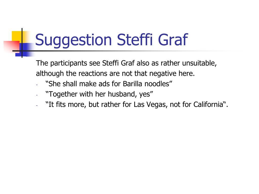 Suggestion Steffi Graf