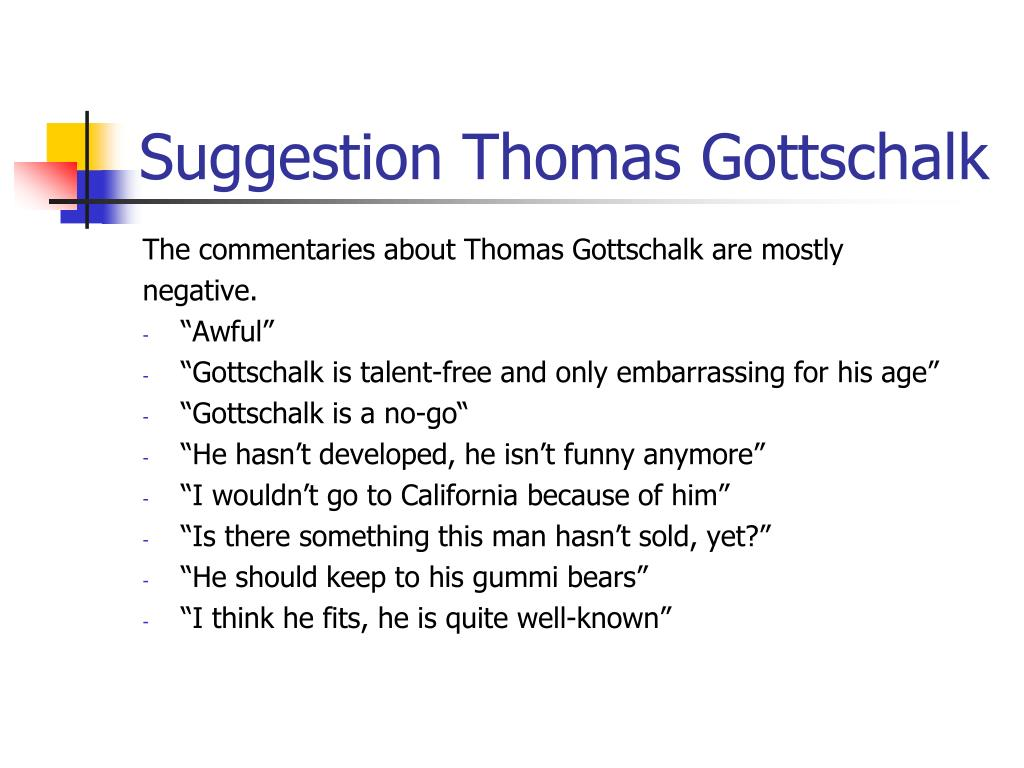 Suggestion Thomas Gottschalk