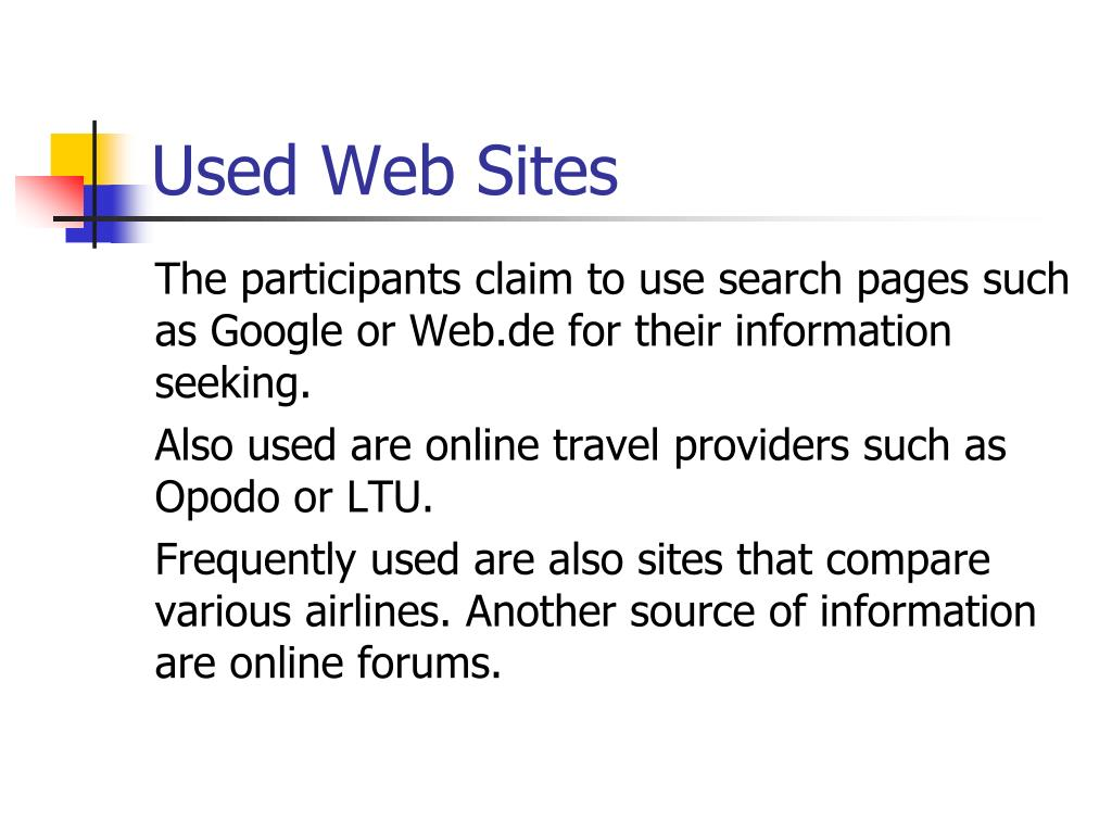 Used Web Sites