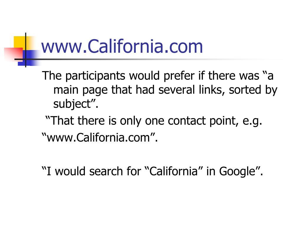 www.California.com